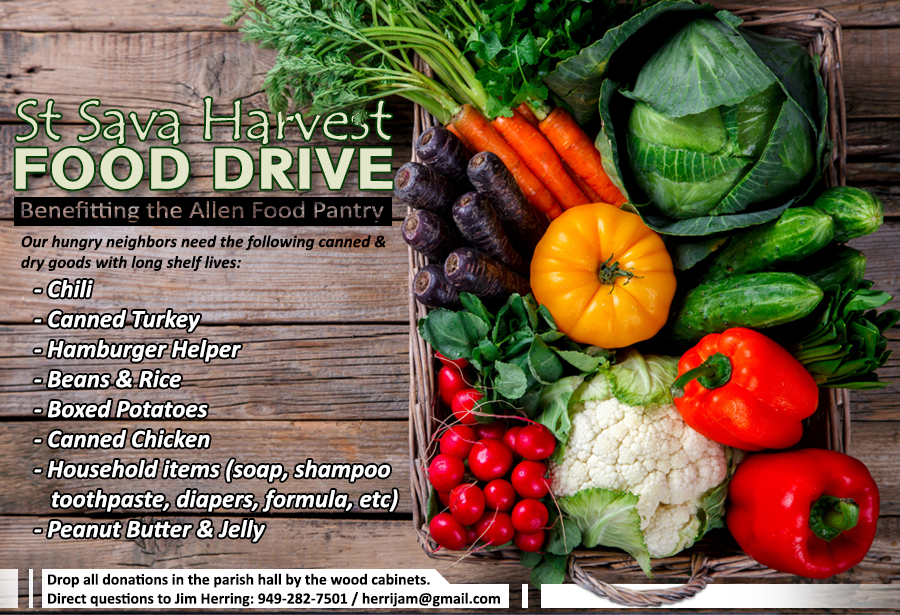 Food drive Oct 21